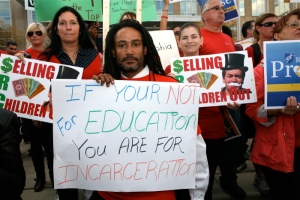 union rally schools not incarceration