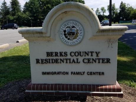 sign for Detention Center